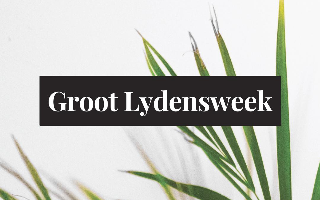 Groot Lydensweek Dag 9: Dankie!