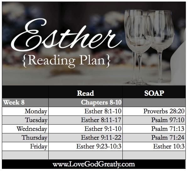WK 8 Reading Plan