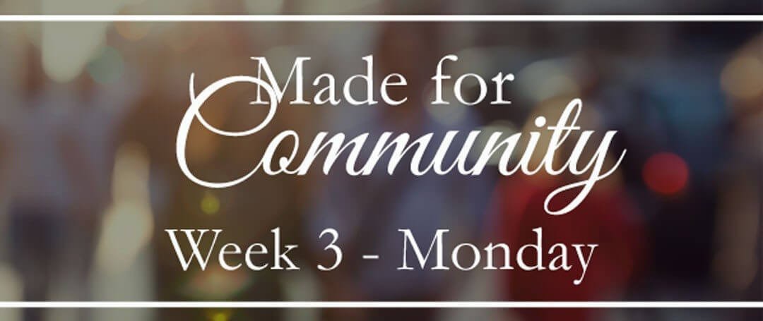{Made for Community} Week 3 ~ Why the family might just be your best advertisement for the gospel…