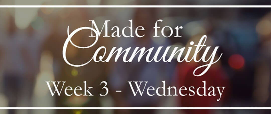 Living In Community With Our Families