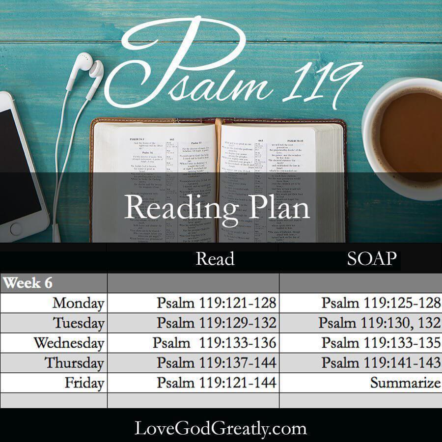 Love God Greatly- Week 6 Reading Plan