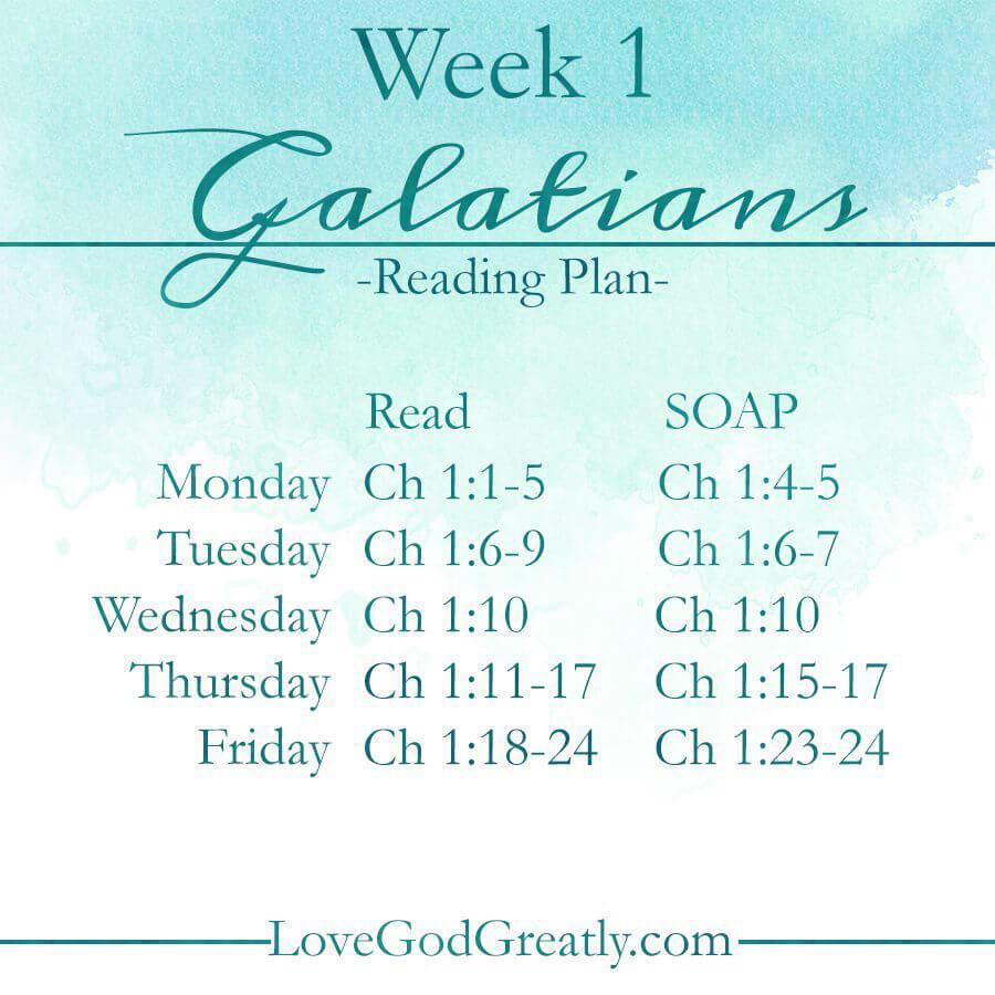 Love God Greatly: WK1ReadingPlan
