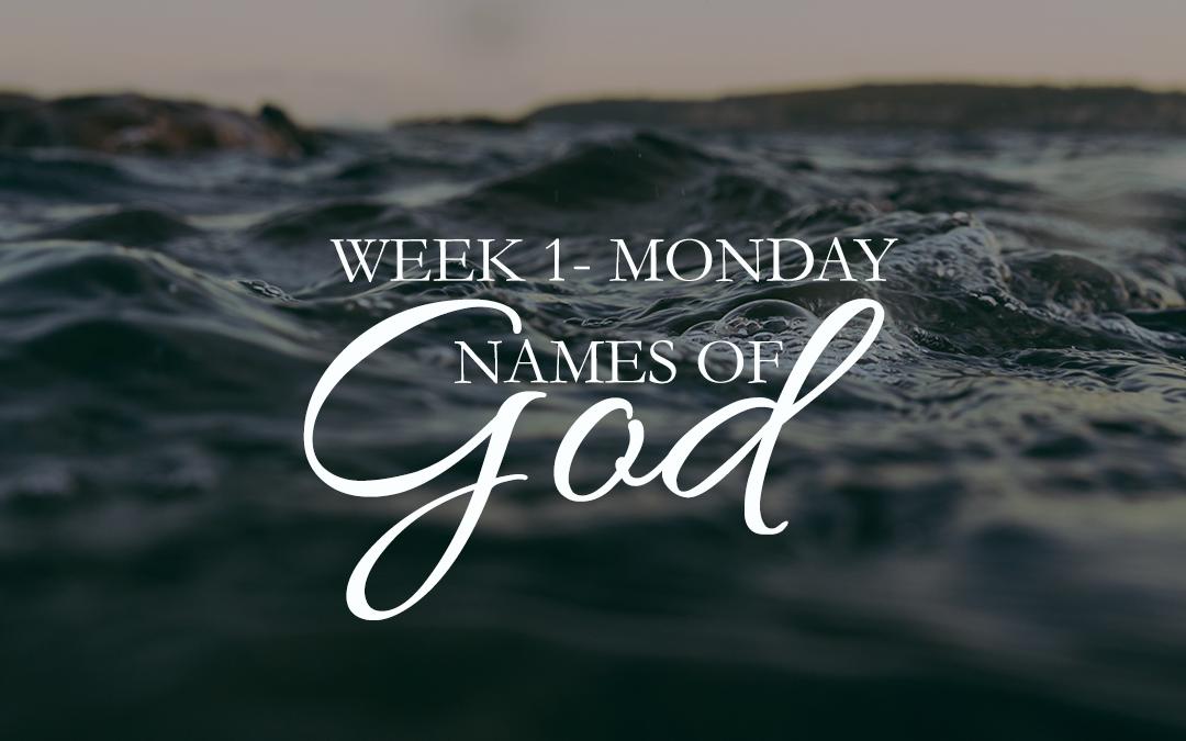Week 1: Jehovah-Jireh