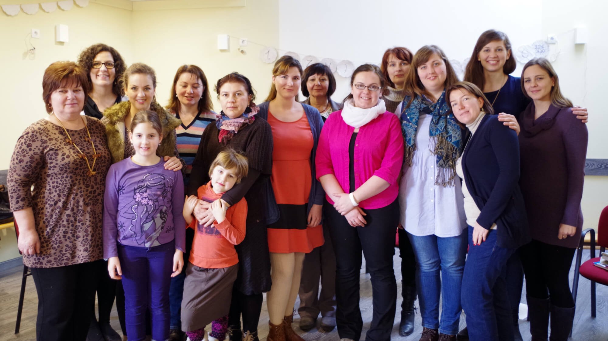Women gathered together for an Intensive in Hungary held in December.
