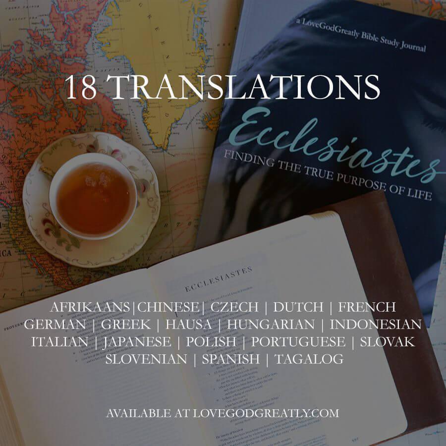 Love God Greatly Translations
