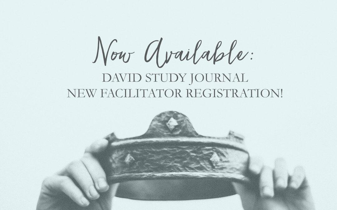 *New* Facilitator Enrollment & David Materials Now Available!