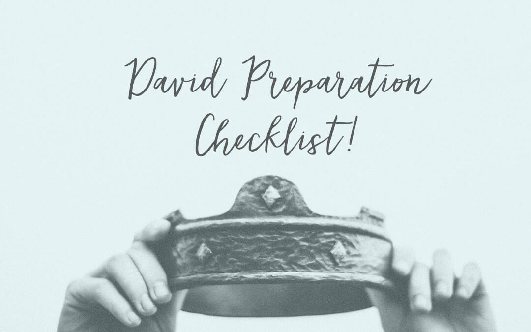 Our DAVID Preparation Checklist!
