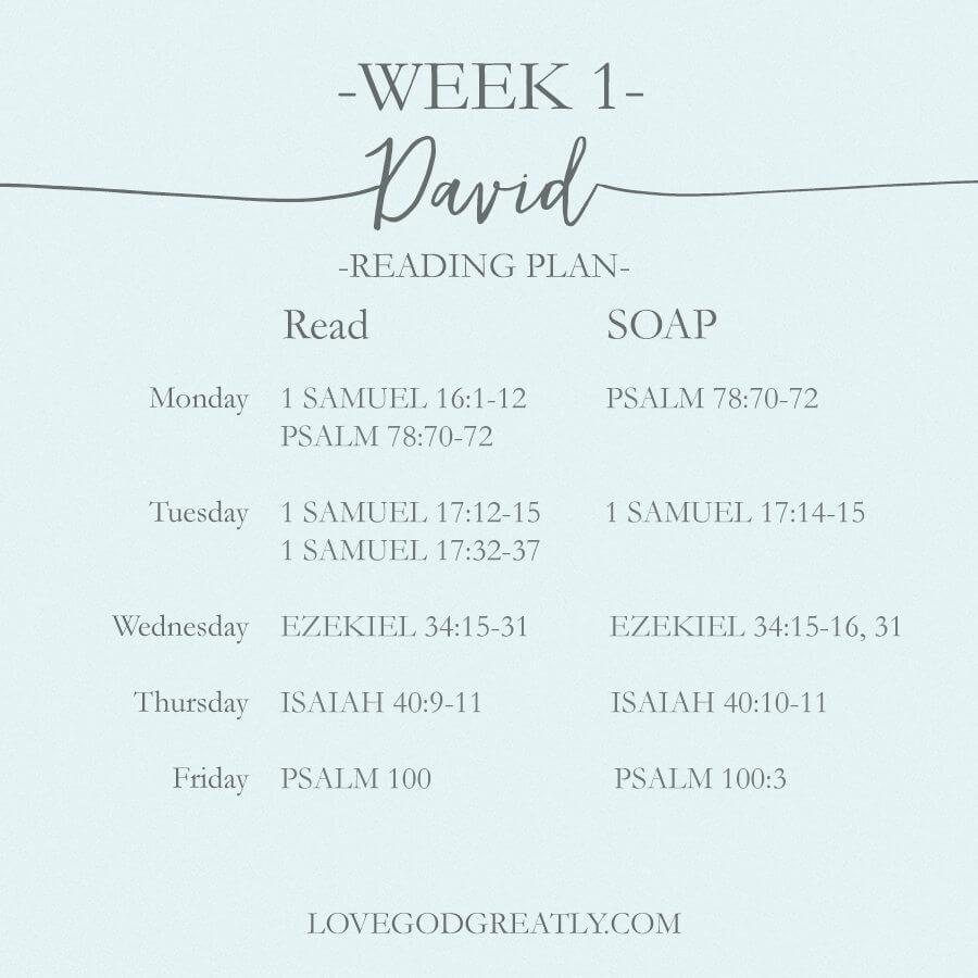 Love God Greatly- Reading Plan