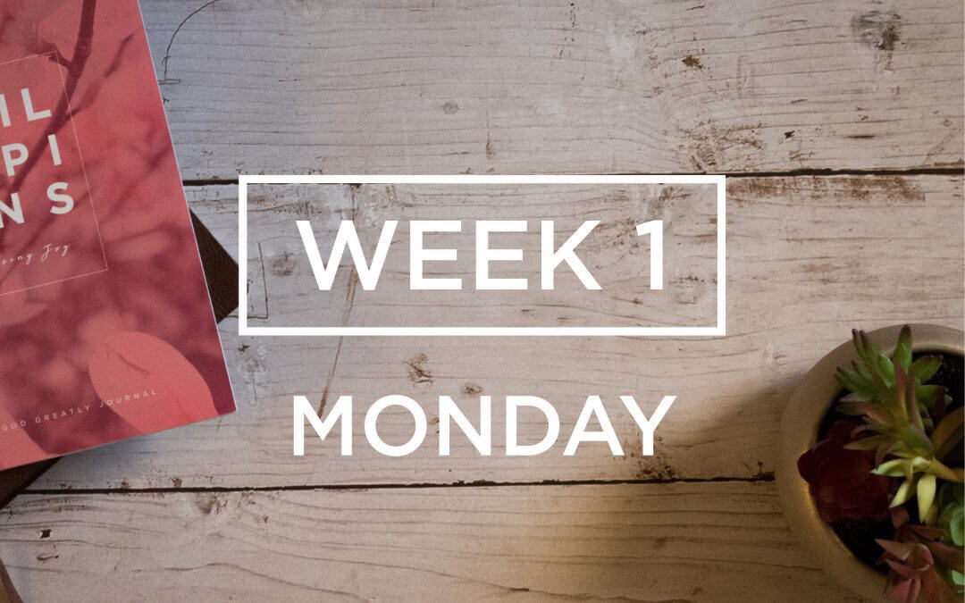 Week 1: What God Starts, He Will Complete