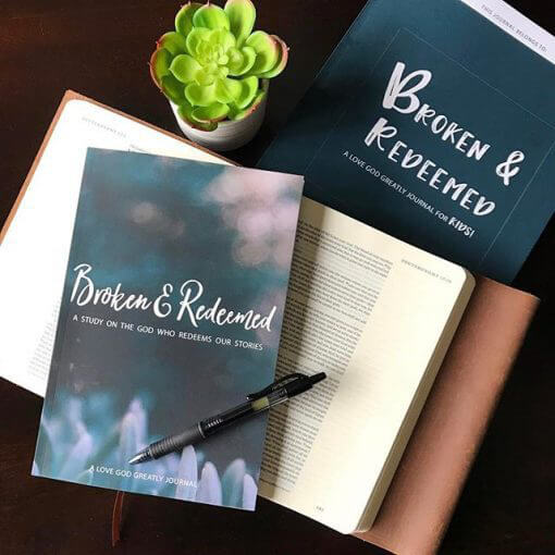 Broken and Redeemed Journal for Kids