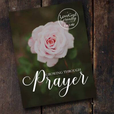 Growing Through Prayer for Kids Journal
