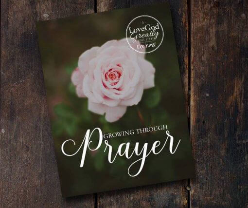 Growing Through Prayer for Kids Journal