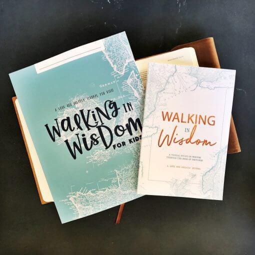 Walking in Wisdom Study Journal for Kids