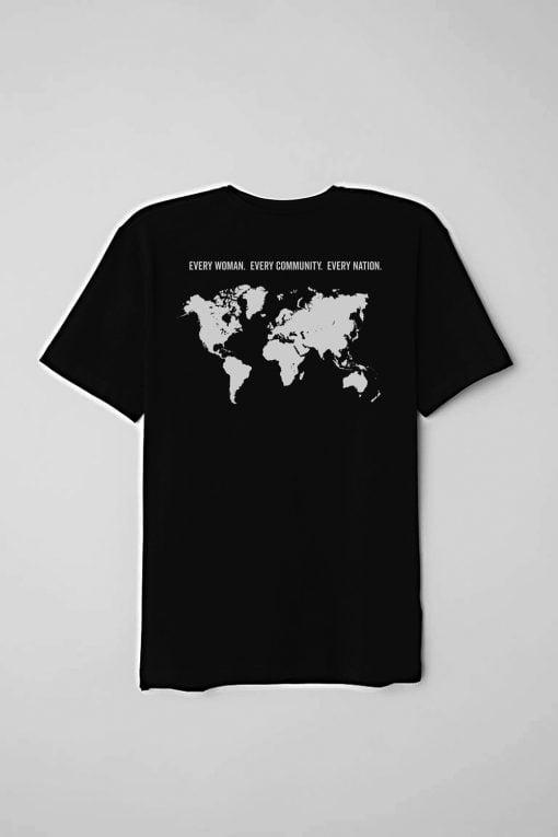 LGG Women's Black T-shirt Back