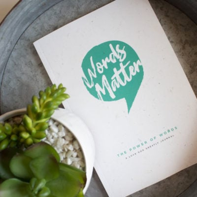 Words Matter Bible Study Women's Journal