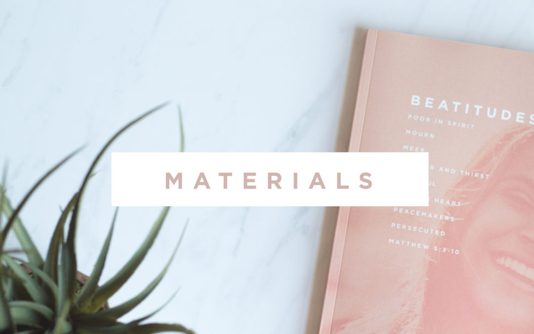 Beatitudes Materials