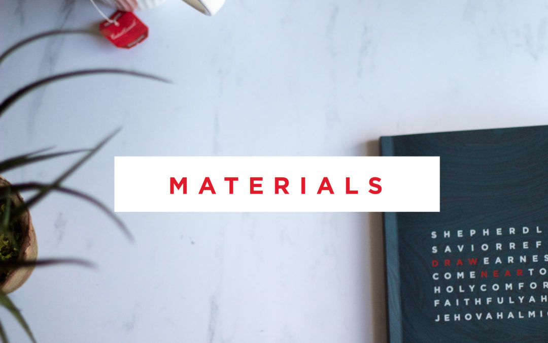 Draw Near- Materials Now Available!