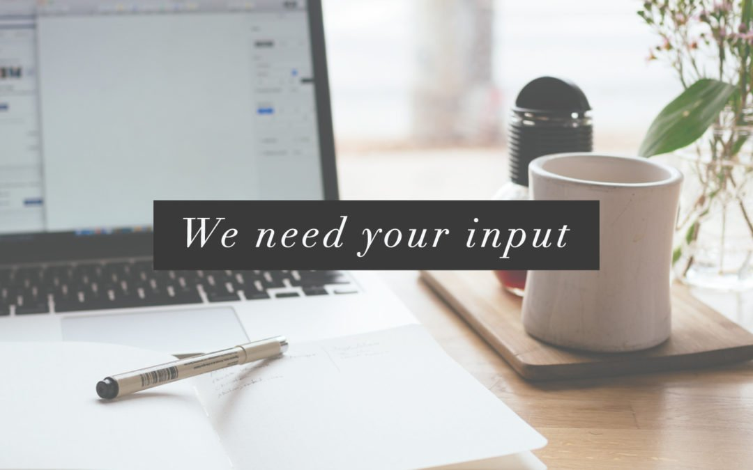We Need Your Input!
