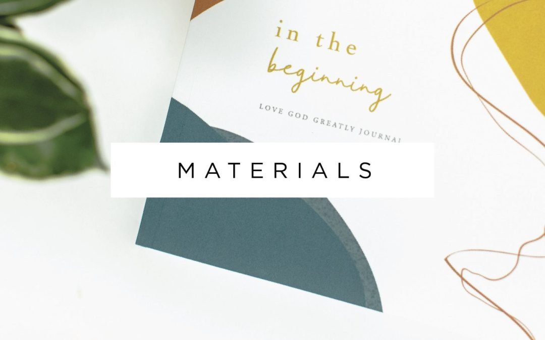 In The Beginning Materials Now Available!